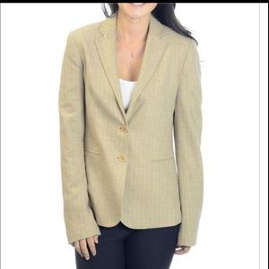 Theory lines wool blazer camel tan taupe size 6